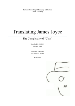 Translating James Joyce - Utrecht University Repository