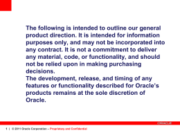 Oracle Database - PAR-TEC