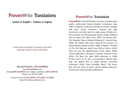 ProvenWrite Translations