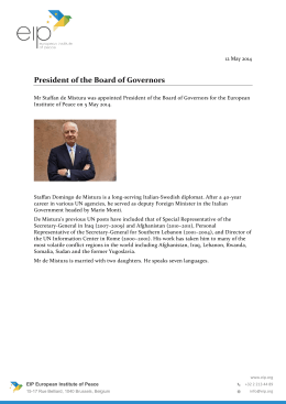 President of the Board of Governors