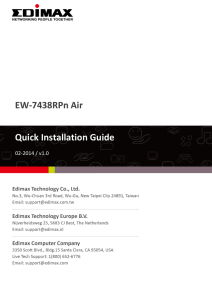EW-7438RPn Air Quick Installation Guide