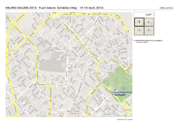 MILANO SALONE 2015:Fuori Salone Exhibition Map 14
