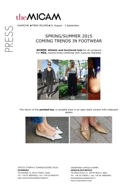 SPRING/SUMMER 2015 COMING TRENDS IN FOOTWEAR