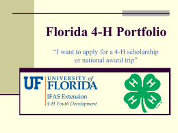 """I want to win a 4-H scholarship or national trip"""