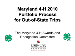 Jazzing Up Your 4-H Resume - University of Maryland Extension