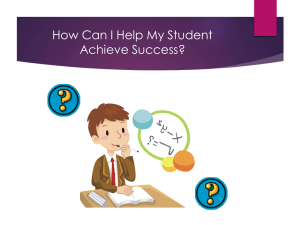 How Can I Help my Student Achieve Success