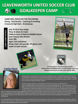 LEAVENWORTH UNITED SOCCER CLUB GOALKEEPER CAMP