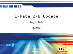 E-Rate 2.0 has arrived - Education Networks of America