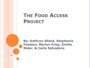 The Food Access Project