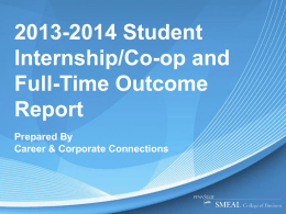 2013-2014 Student Career Outcome Report