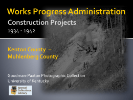 Works Progress Administration Kentucky Co. Kenton