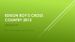 Edison boys cross country 2013