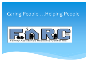 Caring People*.Helping Others - Family Assistance Resource Center