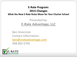 E-Rate Program - Charter School Tools