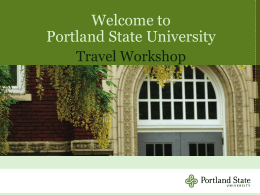 Travel Training - Portland State University