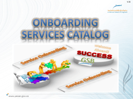 GSB Services Catalog