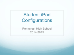 iPad Set-Up - Rose Tree Media School District