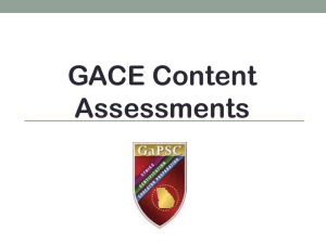 How to Register for GACE Content Assessment