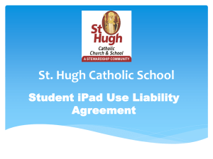 Student iPad Use Liability Agreement