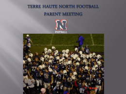 TERRE HAUTE NORTH FOOTBALL PARENT MEETING STAFF