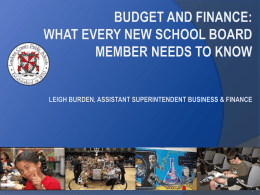 What Every School Board Member Needs to Know About Finance