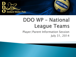 DDO WP * National League Teams