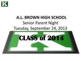 File - the AL BROWN HIGH SCHOOL STUDENT