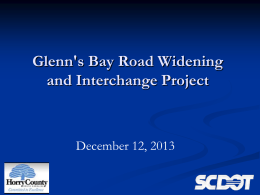 Glenns Bay Road Widening and Interchange Project