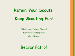 BeaverPatrol-Scout Retention