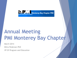 AnnualMeeting-mBay Chapter-Master slides 2014
