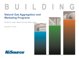 Natural Gas Aggregation and Marketing Programs