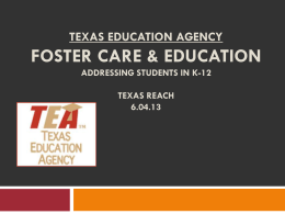 Foster Care Education: Texas Trio Project