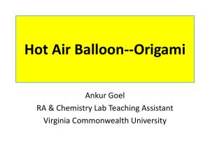 Hot Air Balloon--Origami