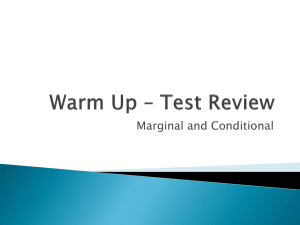 Warm Up * Test Review