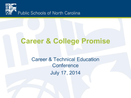 CCP Update for 2014 CTE Conference