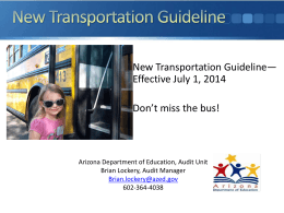 the new state transportation guidlines