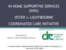 in-home supportive services (ihss)