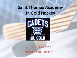 Saint Thomas Academy Jr. Gold Hockey