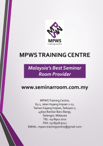 types of seminar rooms - MPWS Rich Training #seminarroom