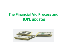 Week 12 - Financial Aid-Hope