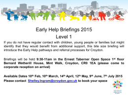 Early Help Pathways Briefings
