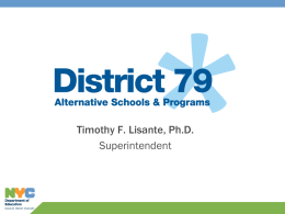 District 79 Alternative High Schools & Programs