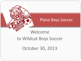 Parent Meeting PowerPoint 13-14 - Plano Wildcats Official Athletics