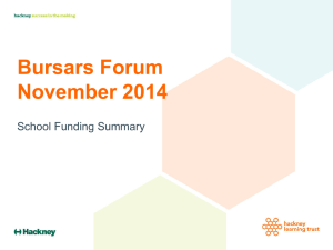 Bursars Forum November 2014 Schools Funding Summary