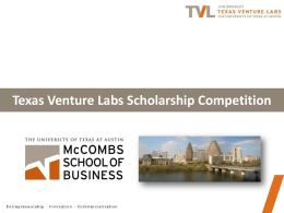 What is Texas Venture Labs? - McCombs School of Business