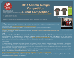 2014 Seismic Design Competition T-Shirt