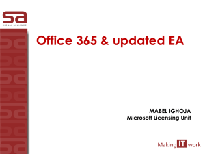o365 licensing and pricing