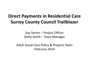 Direct Payments in Residential Care Surrey County Council