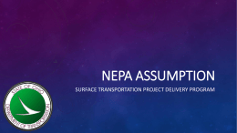 NEPA Assumption - Ohio Department of Transportation