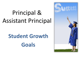 PPGES Student Growth Goals